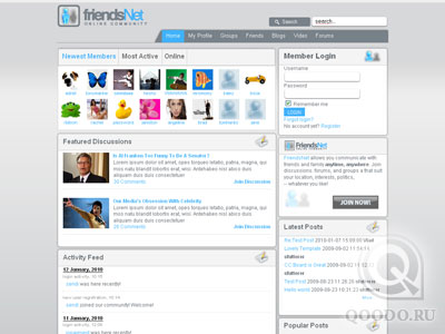JooMagic Social Network Theme - Шаблон для Joomla 1.5