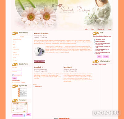 JM Happiness Flower - Шаблон для Joomla 1.5