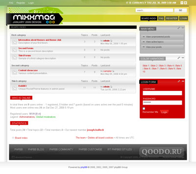 RT Mixxmag v1.5.3 - phpBB3 Style - Шаблон для phpBB3