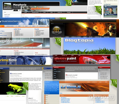 RT Collection templates part. 1 - Шаблоны для Joomla 1.0