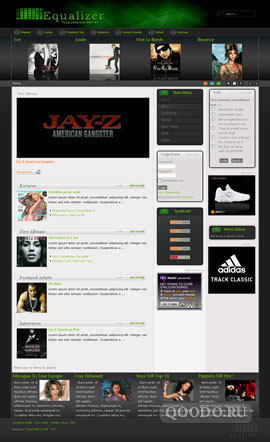 YJ Equalizer Music - Шаблон для Joomla 1.5