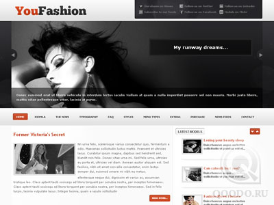 YJ YouFashion - Шаблон для Joomla 1.5
