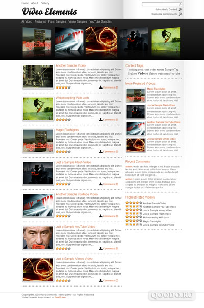 Press75 Video Elements v1.2 - Шаблон для WordPress