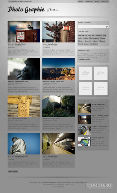 Press75 Photo Graphic - Шаблон для WordPress