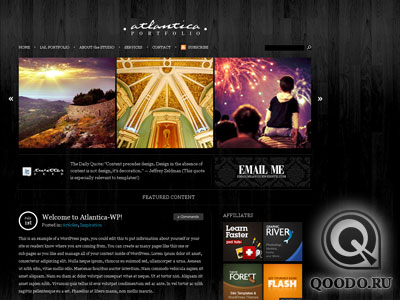 ThemeForest Dark Atlantica - Шаблон для WordPress