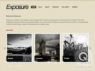 WT Exposure - Шаблон для WordPress