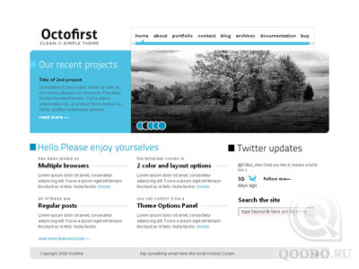 ThemeForest Octofirst Business Portfolio - Шаблон для WordPress