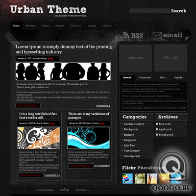 ThemeLayouts Urbanalley - Шаблон для WordPress