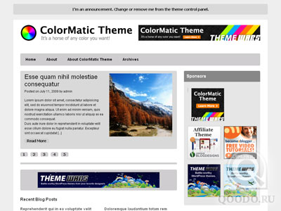 ThemeWars ColorMatic v1.0.2 - Шаблон для WordPress